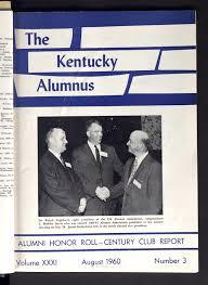 Kentucky alumnus, vol. 03, no. 31, 1960