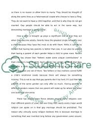 argument paper on gay marriage essay example topics and well  argument paper on gay marriage essay example