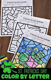 Letter Practicing Free St Patricks Day Color By Letter 123 Homeschool 4 Me