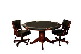rec room furniture and games. The Round Poker Table Also Comes In A Chestnut, Mahogany, And Espresso Finish. Measures 54 Inches Width. It Is Available With Or Without Chip Rec Room Furniture Games