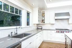 modern light grey quartz gray kitchen countertops dark worktop