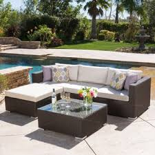 Santa Rosa Outdoor 7 piece Wicker Seating Sectional Set with