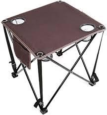RLY <b>Outdoor Folding Table</b> Portable Canvas Table <b>Leisure</b> Table ...