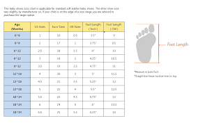 Nike Sandal Size Chart Systematic Baby Clothes Chart Baby Shoe Guide Infant Shoe
