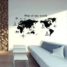 map wall stickers giant world map wall sticker giant wall size world map map wall stickers
