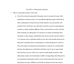 fsu essay examples co dingqoui determinism vs will essays