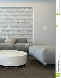 White And Grey Living Room Tranquil Modern Grey Living Room Interior Stock Illustration