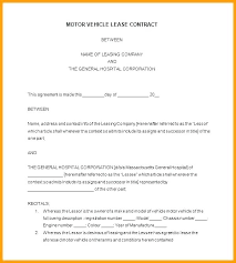 Vehicle Lease Agreement Sample Company Vehicle Use Agreement Template Company Equipment Use