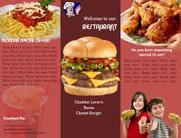 Sample Of Flyer Fast Food Flyer Template