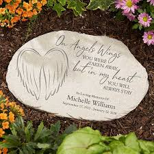 on angels wings personalized memorial