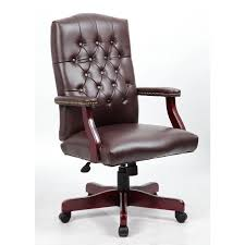 leather office chairs on sale. Mid-back Traditional Tufted Leather Executive Office Chair-Brown By TimeOffice - Time Chairs On Sale F
