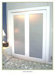 new ideas of frosted glass pocket door bypass closet doors
