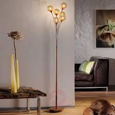 Staande Lamp Greta Met 6 Lichtbronnen Roest Look Lampen24nl