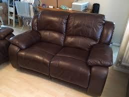 harveys vida living primo 2 seater leather recliner sofa old saddle brown