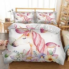 unicorn bedding set twin full queen king super king double size animal duvet cover quilt cover bed pillow cases new green duvet covers fashion bedding from
