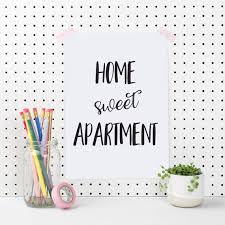 home sweet apartment apartment wall art