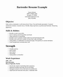 Resume For A Bartender Classy Fast Food Worker Resume Bartender Skills Resume Sample Bartender