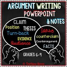 best argumentative writing images english  argumentative writing power point and notes for middle school english
