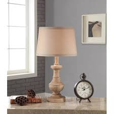 better homes and gardens rustic table lamp white washed wood finish com