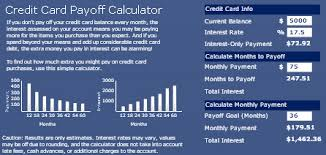 Credit Card Payoff Calculator Using Crystal Xcelsius