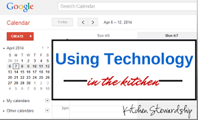 online meal calendar how to use technology in the kitchen