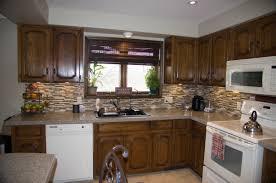 Stain Oak Kitchen Cabinets Dark Stained Kitchen Cabinets Cliff Kitchen