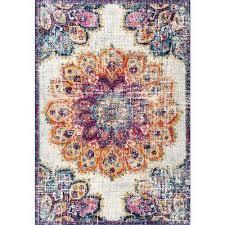 vintage fl kiyoko multi 6 ft 7 in x 9 ft area rug