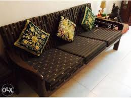 5 seater elegant wooden sofa set with high quality dunlop seat cushions