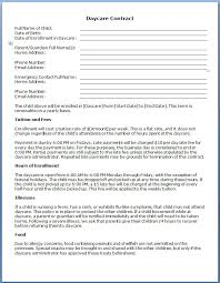 Using The Daily Daycare Contract Form For Childcare 213 Ocweb