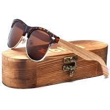 ablibi semi rimless wooden sunglasses womens sunglasses for men black sun glasses uv400 blocking hd clear