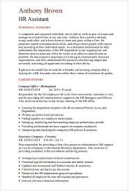 Hr Assistant Sample Resume