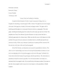 Cover Letter Proper Mla Format For Essays Mla Format For Essays In A