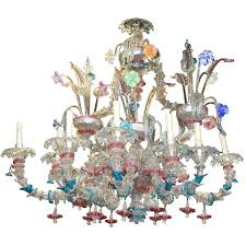 important 19th century venetian murano chandelier circa 1870 for