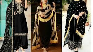 New Latest Punjabi Suit Design 2019 Black Punjabi Suit Designs Punjabi Black Suit Designs