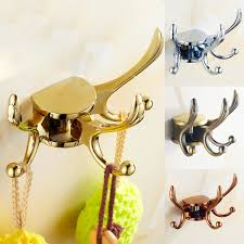 Brass Coat Racks European Creative Wall Hooks Golden Brass Swivel Coat Rack Coat 64