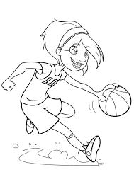 Coloriage Fille Basket Ball Sur Hugolescargot Com