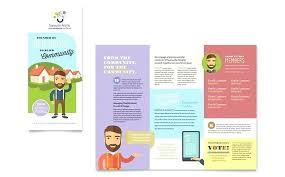 Word Brochure Template Tri Fold Ms Word Tri Fold Brochure Template Merrier Info
