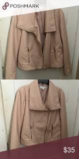 new york company pink leather jacket new york company leather jacket worn once new york company jackets coats