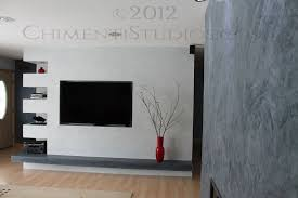 amusing venetian plaster faux finish wall treatment for accent wall and wall mount fireplace