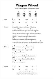 wagon wheel sheet music wagon wheel sheet music by old crow medicine show ukulele 120110