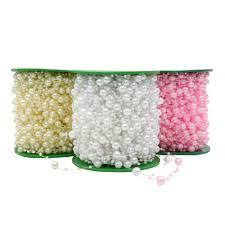 <b>5 Meters Fishing Line</b> Artificial Pearls Beads Chain Garland Flowers ...