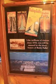 Old Brochures Visitors Center Display Of Some Of The Old Brochures For Ruby Falls