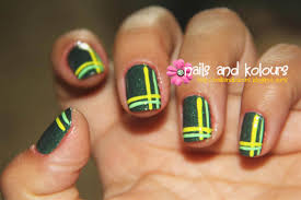 Nail Art: Double Perpendicular Lines ~ JanzCrystalz Handcrafts