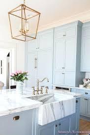 blue kitchen decor cabinets ideas light brown