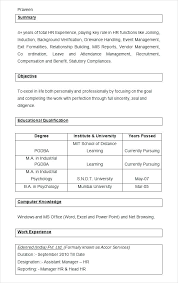 Sample Hr Manager Resumes Sample Hr Resume Human Resources Resume ...