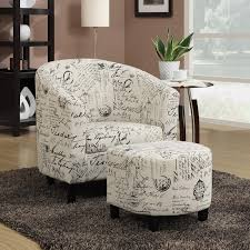 FORTABLE 2 PC French Script Fabric Leatherette Vinyl Accent