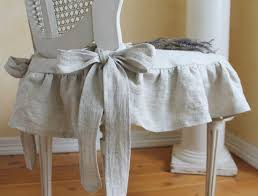 make this for chair the isabella ruffled linen chair slipcover with ballerina ties in natural linen 55 00 via etsy