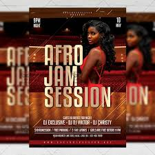 Club Flyer Templates Free Afro Jam Session Flyer Club A5 Template