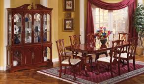 Cherry Finish Traditional Dining Room WPedestal Table - Traditional dining room set