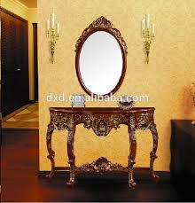 Antique Wood Carved Console Table With Mirror Buy Console Table